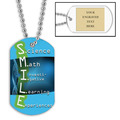 Personalized S.M.I.L.E. Dog Tag w/ Engraved Plate