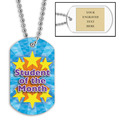 Personalized Student of the Month Dog Tag w/ Engraved Plate