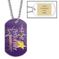 Personalized Star Performer Dog Tag w/ Engraved Plate