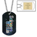 Personalized Science Rocks Dog Tag w/ Engraved Plate