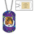 Personalized Tiger Dog Tag w/ Engraved Plate