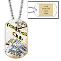 Personalized Year Book Club Dog Tag w/ Engraved Plate