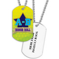 Personalized A-B Honor Roll Dog Tag w/ Print on Back