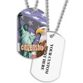 Personalized Citizenship Dog Tag w/ Print on Back
