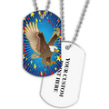 Personalized Eagle Dog Tag w/ Print on Back