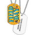 Personalized Field Day Dog Tag w/ Print on Back