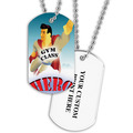 Personalized Gym Class Hero Dog Tag w/ Print on Back