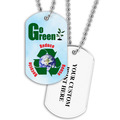 Personalized Go Green Dog Tag w/ Print on Back