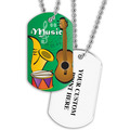 Personalized Music Dog Tag w/ Print on Back