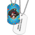 Personalized Pirate Dog Tag w/ Print on Back