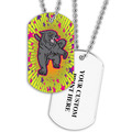 Personalized Panther Dog Tag w/ Print on Back
