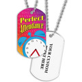 Personalized Perfect Attendance Dog Tag w/ Print on Back