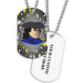 Personalized Patriot Dog Tag w/ Print on Back