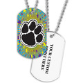 Personalized Paw Print Dog Tag w/ Print on Back