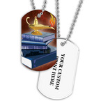 Personalized Scholastic Dog Tag w/ Print on Back
