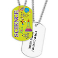 Personalized Science Dog Tag w/ Print on Back