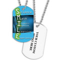 Personalized S.M.I.L.E. Dog Tag w/ Print on Back