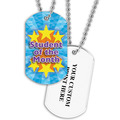 Personalized Student of the Month Dog Tag w/ Print on Back