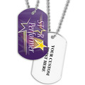 Personalized Star Performer Dog Tag w/ Print on Back