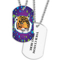 Personalized Tiger Dog Tag w/ Print on Back