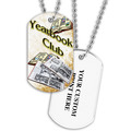Personalized Yearbook Club Dog Tag w/ Print on Back