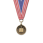 CX School Award Medal w/ Grosgrain Neck Ribbon