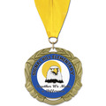 XBX School Award Medal w/ Grosgrain Neck Ribbon