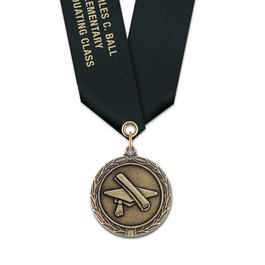 MX School Award Medal w/ Satin Neck Ribbon