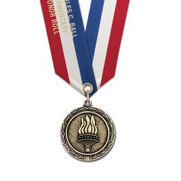 MX Medal w/ Specialty Satin Neck Ribbon