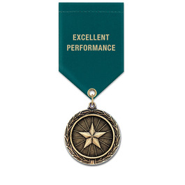 MX School Award Medal w/ Satin Drape Ribbon