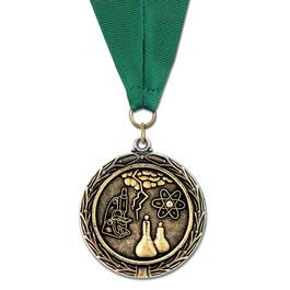 LX Medal w/ Red/White/Blue or Flag Grosgrain Neck Ribbon