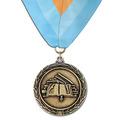 LX School  School Medal w/ Custom Millennium Neck Ribbon