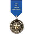 LX School Award Medal w/ Satin Drape Ribbon