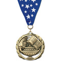 ES School Award Medal w/ Grosgrain Neck Ribbon