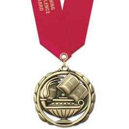 ES School Award Medal w/ Multicolor Neck Ribbon