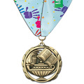 ES School Award Medal w/ Custom Millennium Neck Ribbon
