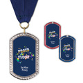 GEM Tag School Award Medal with Grosgrain Neck Ribbon