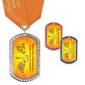 GEM Tag School Award Medal with Satin Neck Ribbon