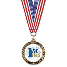 LFL School Award Medal w/ Grosgrain Neck Ribbon