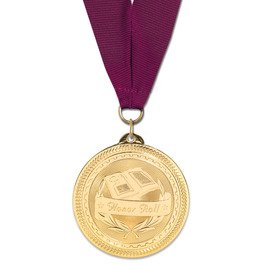 BL Medal w/ Grosgrain Neck Ribbon