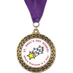 GFL School Award Medal w/ Grosgrain Neck Ribbon