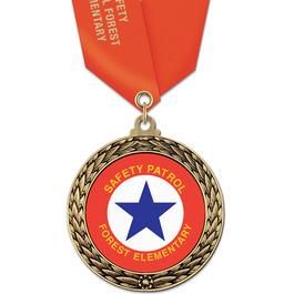 GFL School Award Medal w/ Satin Neck Ribbon