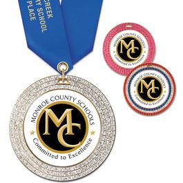 GEM School Award Medal w/ Satin Neck Ribbon