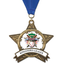 AS14 All Star School Award Medals w/ Grosgrain Neck Ribbon