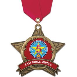 AS14 All Star School Award Medals w/ Satin Neck Ribbon