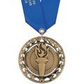 Rising Star School Award Medal with Satin Neck Ribbon