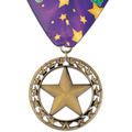 Rising Star School Award Medal w/ Custom Millennium Neck Ribbon