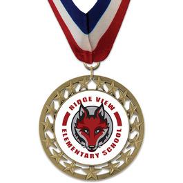 RS14 School Award Medal w/ Millennium Neck Ribbon