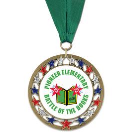 RSG School Award Medal w/ Grosgrain Neck Ribbon