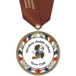 RSG School Award Medal w/ Satin Neck Ribbon